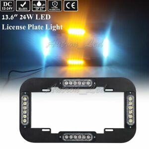 13 5 24w Led Warn Flash Traffic Adviser Strobe License Plate Lights Amber White