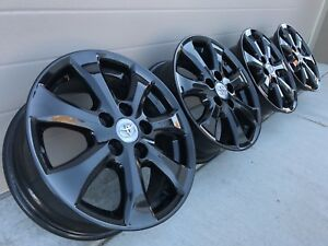 16 Toyota Camry Le Sport Oem Factory Stock Wheels Rims Black 5x114 3 Avalon