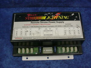 Galls Street Lightning Remote Strobe Power Supply 8 Outlet 150w Multi flash