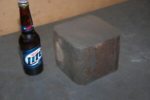 One Steel Rectangular Bar For Blacksmith Anvil 6 X 6 X 5 49 Lbs Inv 26687