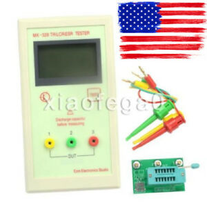 Portable Mk 328 Lcd Transistor Tester Diode Capacitance Lcr Esr Meter Yc Qs41 Us