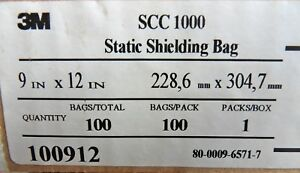 Box Of 100 3m Esd Anti static Shielding Bags 9 X 12 Open top Free Us Shipping