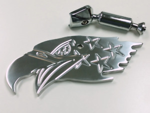 Polished Aluminum American Eagle Interior Rear View Mirror Hot Rat Street Rod