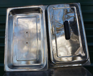 2 Lot Stainless Steel Full Size Steam Table Pan Dome Cover Lid Chafer Lids