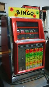 Vintage Bingo Table Top Arcade Game Coin Operated Machine Works
