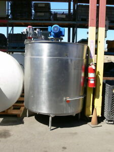 Groen 800 Gallon Stainless Steel Jacketed Mixing Tank W Sweep Agitator