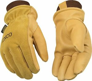 Kinco 94hk Mens Lined Suede Pigskin Gloves Heatkeep Thermal Lining Cold Weather