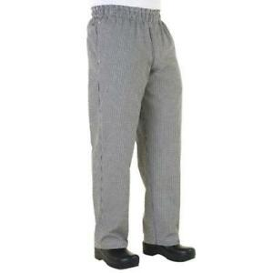 Chef Works Zip fly Baggy Chef Pants Checked All Sizes