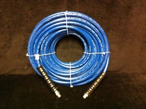 Blue Non marking Pressure Washer Hose 3 8 I d X 100ft 4 000 Psi Cpld Mpt X Ms