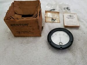Vintage Weston Volts Dc Meter Gauge Model 1541 made In Usa