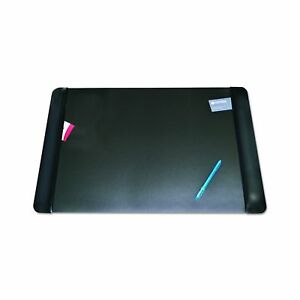 Artistic 413861 Executive Desk Pad With Leather Side Panels 36 X 20 Bl
