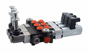 3 Spool Hydraulic Solenoid Directional Control Valve 13gpm 12v Sae hand Control
