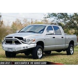 Fab Fours Dr06 a1152 1 Front Winch Bumper W pre runner Guard For 06 09 Dodge Hd