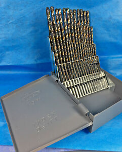 60 Pcs Black Gold Drill Bit Set 1 To 60 Huot Case 135 S p Huot Case