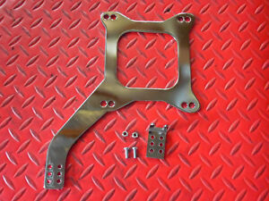 Carburetor Spacer Linkage Plate Chrome For Holley Edelbrock Afb Quickfuel 4bbl