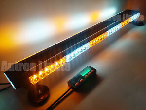 38 78w Led Warning Traffic Advisor Emergency Strobe Truck Light Bar Amber White