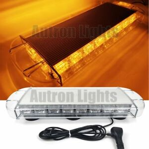 22 60w Led Amber Traffic Advisor Emergency Wrecker Truck Warn Strobe Light Bar