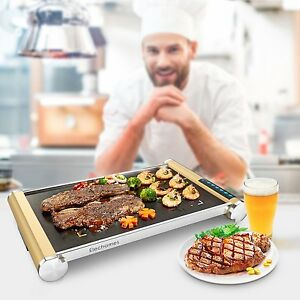 Electric Flat Top Grill Led Touch Control Professional Glass Ceramic Griddle