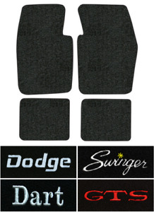 1963 1973 Dodge Dart Floor Mats 4pc Loop