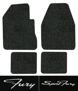 1962 1969 Plymouth Fury Floor Mats 4pc Loop Fits 2dr 4spd