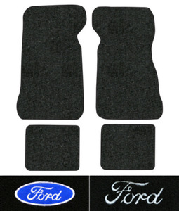 1972 1973 Ford Thunderbird Floor Mats 4pc Loop