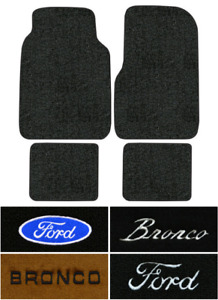 1978 1987 Ford Bronco Floor Mats 4pc Cutpile