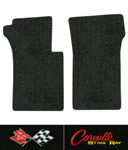 1963 1967 Corvette C2 Floor Mats 2pc Loop