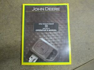John Deere 2020 2030 Utv Gator Utility Vehicle Owners Maintenance Manual