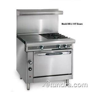 Imperial Ihr 2 1ht c Diamond 36 In Range W 2 Burners Hot Top Convection Oven