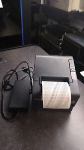 Epson Tm t88iv Pos Thermal Printer serial Interface M129h With Power Supply