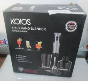Koios 4 In 1 Hand Blender 400 watts With 500ml Food Processor 600ml Beaker