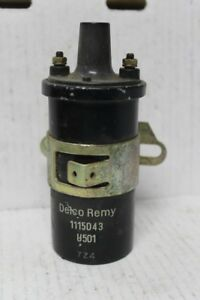 Vtg Delco Remy Ignition Coil 1115043 Code 724 U501 Chevrolet 1964 1 563