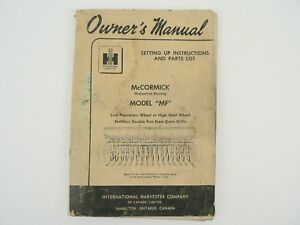 Mccormick Deering Mf Fertilizer Double Run Feed Grain Drill 1952 International