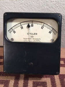 Antique Roller Smith Co Cycles Meter Gauge Steampunk Prop Sci Fi Usa Unique Cool