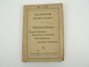 Vtg Mccormick Deering Cultivator Repair Catalog International Farmall 1939