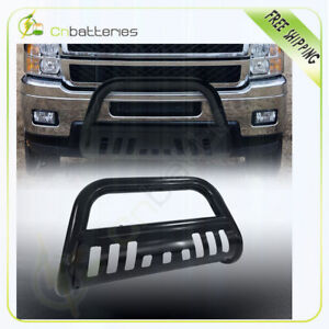 3 Front Round Bull Bar Grille Guard For 14 17 Chevy Silverddo Gmc Sierra 1500