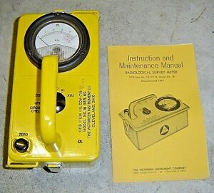 Victoreen Ocd Cdv 715 Radiation Detector Survey Meter Model 1b