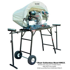 Vacuum System Dust Collection Hood Miter Table Saw Accessory Wood Work Shop New
