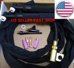 Us Seller wp 26fv 12 200amp Air cooled Gas Valve Flex Head Tig Welding Torch