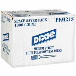 Party Dixie Medium Weight Disposable Plastic Forks 1000 Count