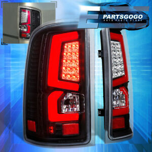 For 07 13 Gmc Sierra 1500 2500hd 3500hd Led Brake Tail Lights Lamps Red Smoked