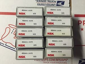 Nsk Bearings Part 6004vv Lot Of 10 Pcs New
