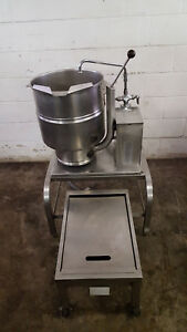 Groen Tdb 7 40 Steam Jacketed Manual Tilt Kettle 208v Tested Faucet Stand Drawer