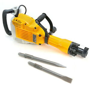 Hd 3600 Watt Electric Demolition Jack Hammer Concrete Breaker Punch Chisel Bit