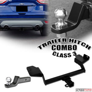 Class 3 Matte Blk Trailer Hitch Tube 2 Ball Towing Mount Kit 13 18 Ford Escape