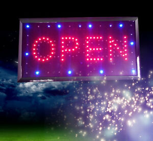 Super Bright Led Neon Light Animated Motion With Open closed Business Sign Us