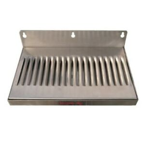 6 X 12 Stainless Steel Wall Mount Draft Beer Drip Tray Free Shipping