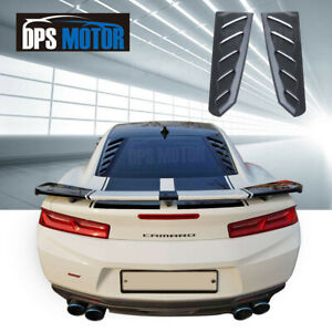 K speed Rear Window Louver Cover Sun Shade Rain Guard For 2016 18 Chevy Camaro