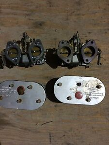 Porsche 356 912 Solex 40 P11 4 Carburetors Fresh Rebuild W Air Knecht