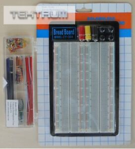 Tektrum Solderless Experiment Plug in Breadboard Kit With Pre formed Solid Wires